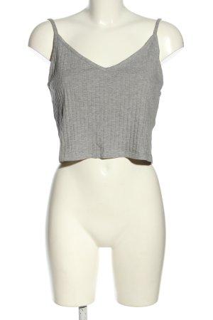 H&M Divided Top basic grigio chiaro motivo a righe stile casual