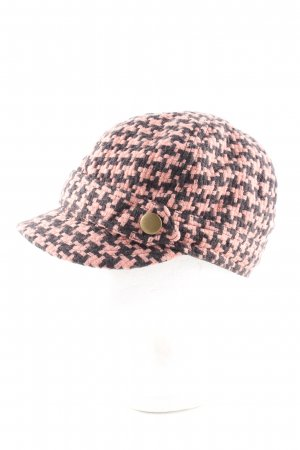 H&M Divided Beret black-nude check pattern casual look