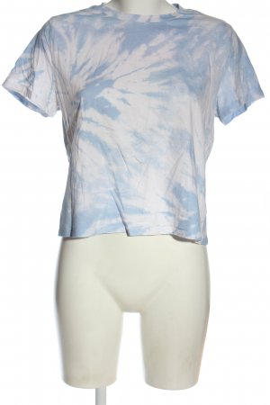 H&M Divided Batik shirt blauw-wit abstract patroon casual uitstraling