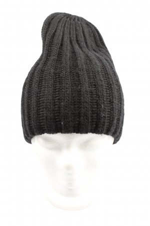 H&M Divided Beanie schwarz Zopfmuster Casual-Look