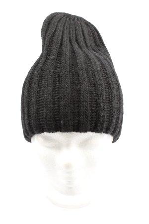 H&M Divided Bonnet noir torsades style décontracté