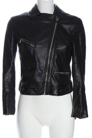 H&M Divided Bikerjack zwart casual uitstraling