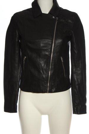 H&M Divided Kurtka typu biker czarny W stylu casual