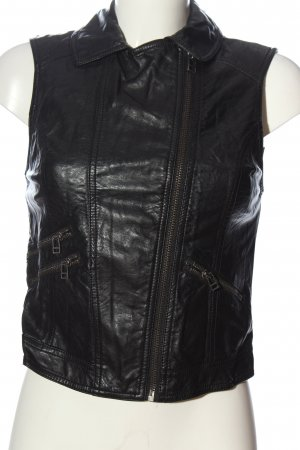H&M Divided Bikerweste schwarz Casual-Look