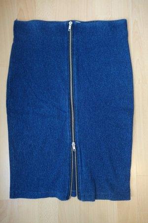 H&M Divided Bleistift Rock Jeans mit verstellbarem Reißverschluss Gr. S