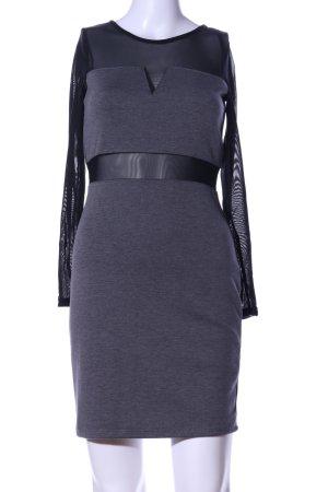 H&M Divided Abito longuette lilla-nero puntinato elegante