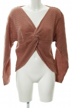 H&M Divided Blogger Strickpullover roségoldfarben Casual-Look