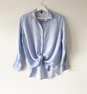 H&M Divided Bluse gesteift 38 blau weiss
