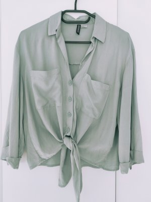 H&M Divided Long Sleeve Blouse pale blue-sage green