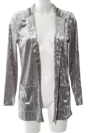 H&M Divided Blusenjacke hellgrau extravaganter Stil