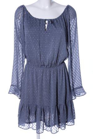H&M Divided Blusenkleid blau Allover-Druck Elegant