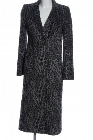 H&M Divided Floor-Lenght Coat light grey-black allover print elegant