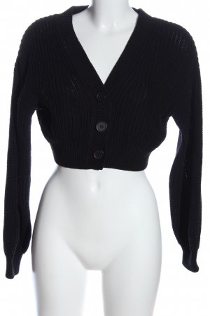 H&M Divided Bolero schwarz Zopfmuster Casual-Look