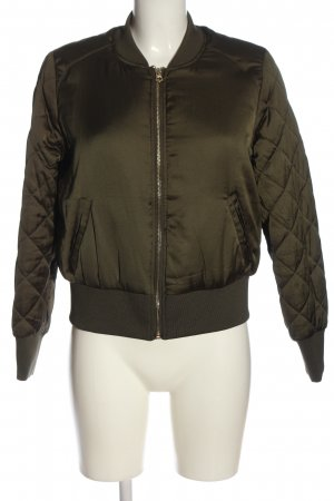 H&M Divided Bomber Jacket khaki quilting pattern casual look