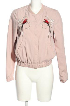 H&M Divided Bomberjack roze-rood volledige print casual uitstraling