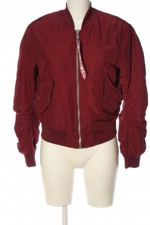 H&M Divided Bomber Jacket red casual look