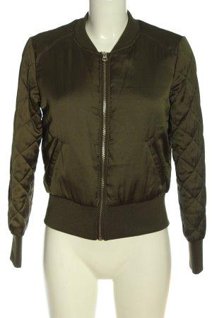 H&M Divided Bomberjack khaki quilten patroon casual uitstraling