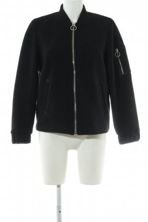 H&M Divided Bomberjacke schwarz Casual-Look