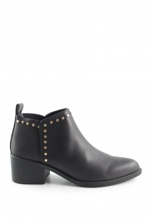 H&M Divided Booties schwarz-goldfarben Casual-Look