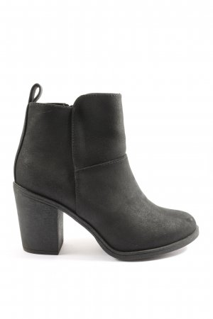 H&M Divided Booties schwarz Casual-Look