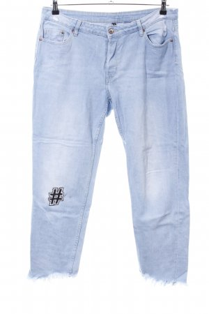 H&M Divided Boyfriend jeans blauw casual uitstraling