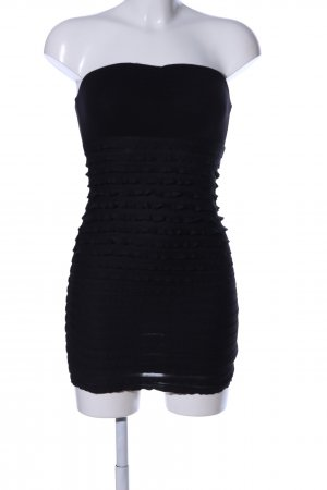 H&M Divided Bustier Dress black casual look