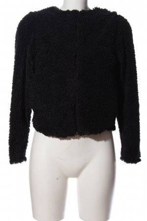 H&M Divided Fake Fur Jacket black casual look