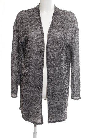 H&M Divided Kardigan jasnoszary-czarny Melanżowy W stylu casual