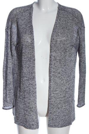 H&M Divided Kardigan biały-czarny Melanżowy W stylu casual