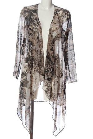 H&M Divided Kardigan brązowy-kremowy Abstrakcyjny wzór W stylu casual