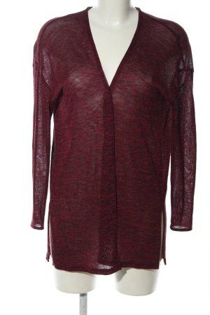 H&M Divided Kardigan czerwony Melanżowy W stylu casual