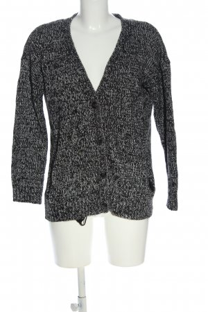 H&M Divided Cardigan hellgrau Zopfmuster Casual-Look