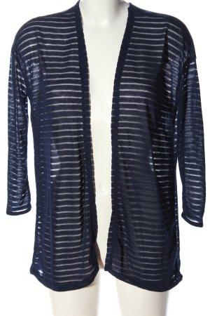H&M Divided Kardigan niebieski Wzór w paski W stylu casual