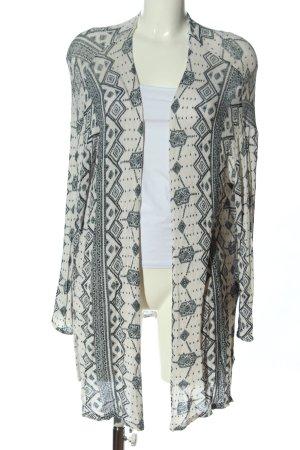 H&M Divided Kardigan kremowy-jasnoszary Graficzny wzór W stylu casual