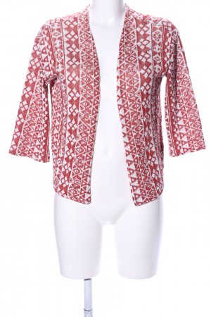 H&M Divided Cardigan rot-weiß grafisches Muster Casual-Look