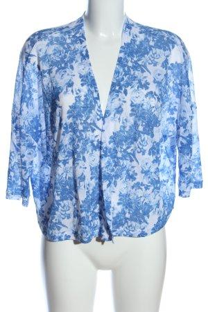 H&M Divided Kardigan niebieski-biały Na całej powierzchni W stylu casual