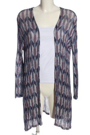 H&M Divided Kardigan biały-niebieski Wzór w paski Elegancki