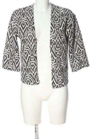 H&M Divided Kardigan czarny-biały Na całej powierzchni W stylu casual
