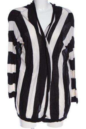 H&M Divided Cardigan schwarz-weiß Streifenmuster Casual-Look