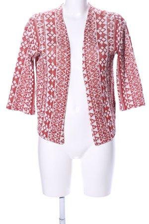 H&M Divided Kardigan czerwony-biały Graficzny wzór W stylu casual