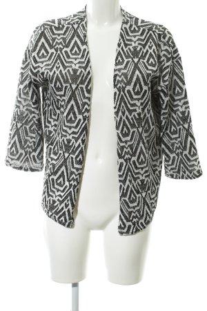 H&M Divided Kardigan czarny-biały W stylu casual