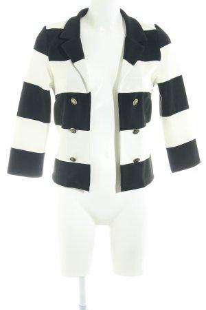 H&M Divided Cardigan schwarz-weiß Casual-Look