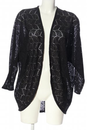 H&M Divided Cardigan schwarz Zopfmuster Casual-Look