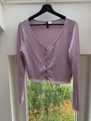 H&M Divided Top en maille crochet violet-lilas