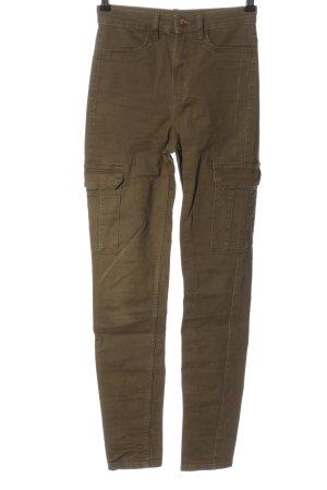 H&M Divided Pantalon cargo kaki style décontracté