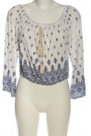 H&M Divided Blusa tipo Carmen Mezcla de patrones look casual