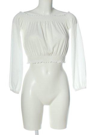 H&M Divided Blusa tipo Carmen blanco elegante