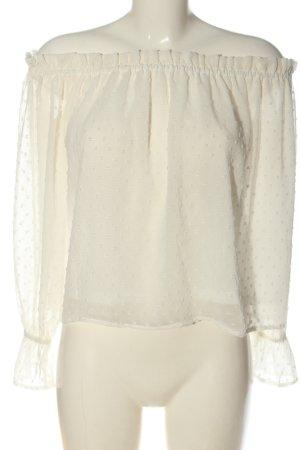 H&M Divided Bluzka typu carmen biały W stylu casual