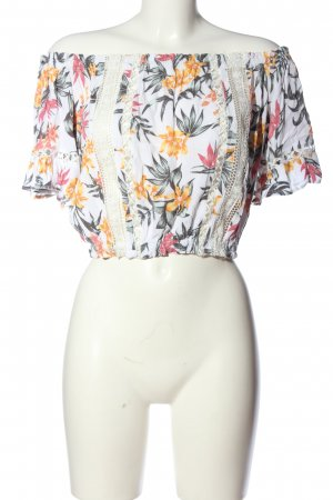 H&M Divided Carmen-Bluse mehrfarbig Casual-Look