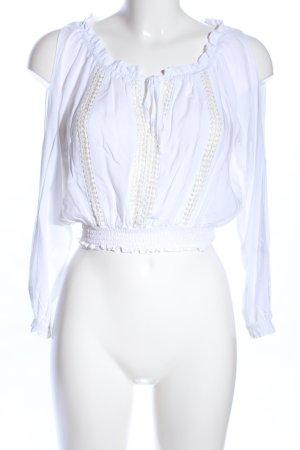 H&M Divided Blouse Carmen blanc style décontracté